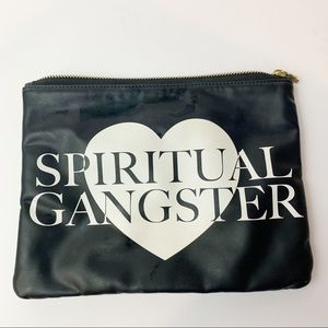 Spiritual Gangster Logo Heart Cosmetic Bag Zip Up Travel
